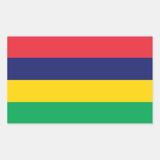 Adesivo Retangular Bandeira de Maurícia