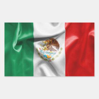 Adesivo Retangular Bandeira de México