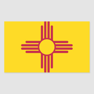 Adesivo Retangular Bandeira de New mexico