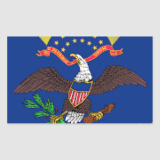 Adesivo Retangular Bandeira de North Dakota