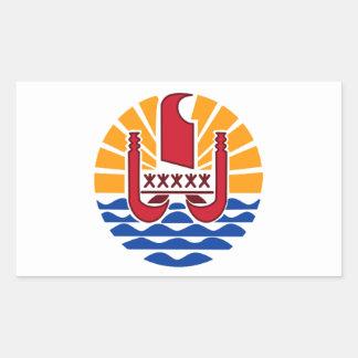 Adesivo Retangular Bandeira de Polinésia francesa, Drapeau Polynésie