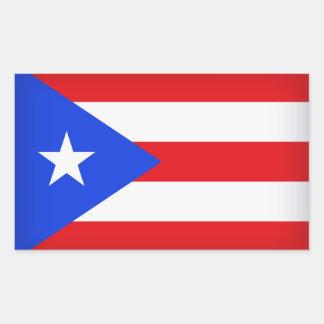 Adesivo Retangular Bandeira de Puerto Rico