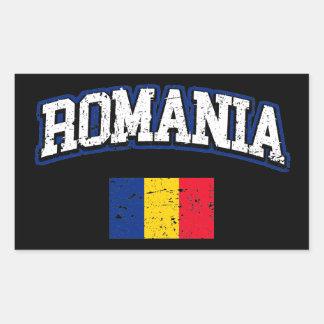 Adesivo Retangular Bandeira de Romania
