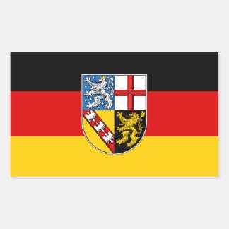 Adesivo Retangular Bandeira de Saarland