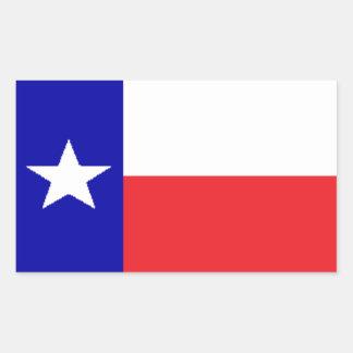 Adesivo Retangular Bandeira de Texas
