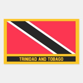 Adesivo Retangular Bandeira de Trinidad and Tobago