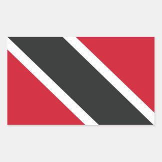 Adesivo Retangular Bandeira de Trinidadtobago