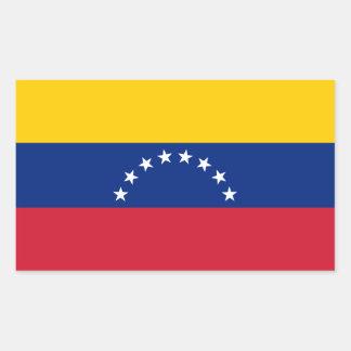Adesivo Retangular Bandeira de Venezuela