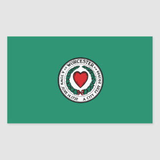 Adesivo Retangular Bandeira de Worcester, Massachusetts