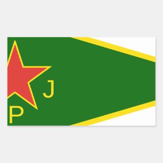 Adesivo Retangular Bandeira de YPJ