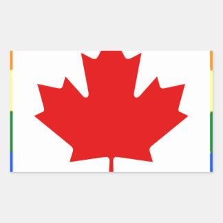 Adesivo Retangular Bandeira do arco-íris de Canadá
