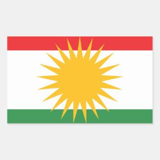 Adesivo Retangular Bandeira do Curdistão; Curdo; Curdo