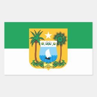 Adesivo Retangular Bandeira do Rio Grande do Norte Brasil
