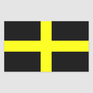 Adesivo Retangular Bandeira do santo David - Baner Dewi Sant
