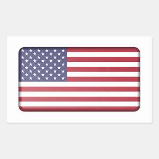 Adesivo Retangular Bandeira dos EUA