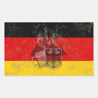 Adesivo Retangular Bandeira e símbolos de Alemanha ID152