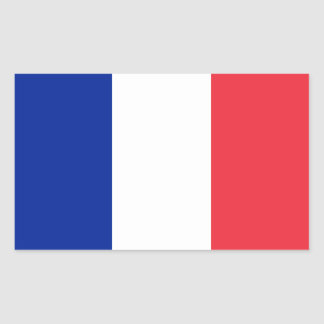 Adesivo Retangular Bandeira francesa patriótica