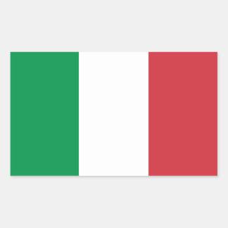 Adesivo Retangular Bandeira italiana patriótica