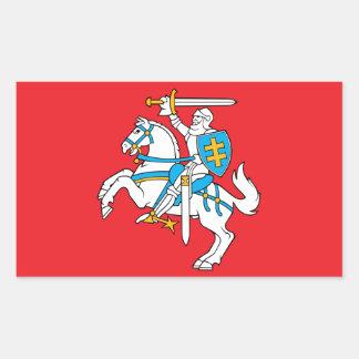 Adesivo Retangular Bandeira lituana do estado