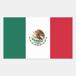 Adesivo Retangular Bandeira mexicana patriótica