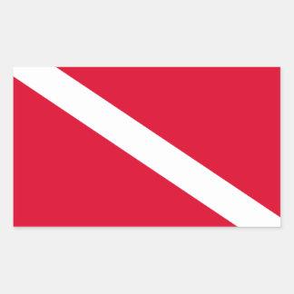 Adesivo Retangular Bandeira para Mergulho