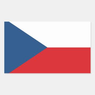Adesivo Retangular Bandeira patriótica da república checa