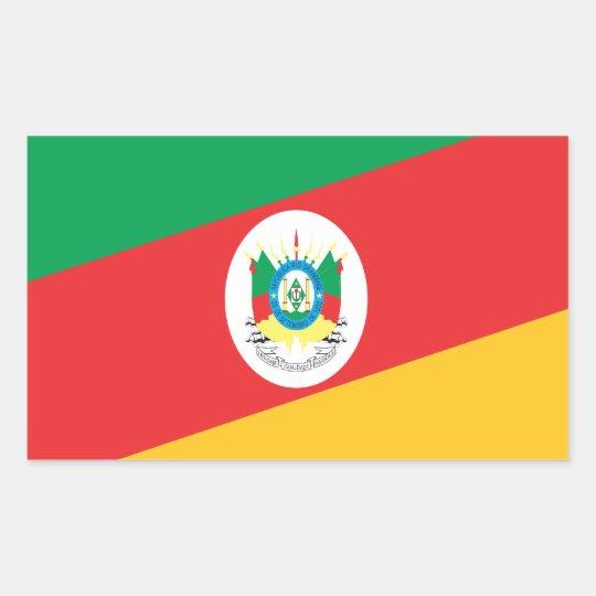 Adesivo Retangular Bandeira Rio Grande do Sul  Brasil