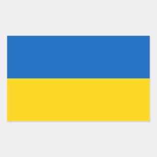 Adesivo Retangular Bandeira ucraniana