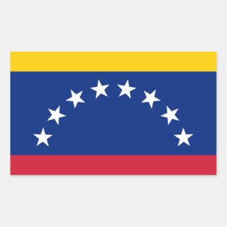 Adesivo Retangular Bandeira venezuelana - bandeira de Venezuela -