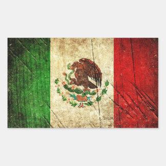 Adesivo Retangular Bandeiras de país afligidas | México