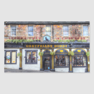 Adesivo Retangular Bar Edimburgo de Greyfriars Bobby