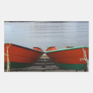 Adesivo Retangular Barcos bonito de Terra Nova
