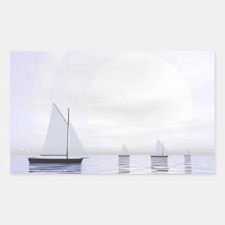 Adesivo Retangular Barcos de navigação - 3D rendem