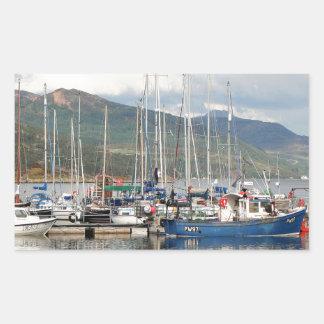 Adesivo Retangular Barcos em Kyleakin, ilha de Skye, Scotland