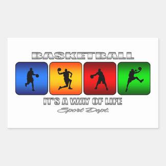 Adesivo Retangular Basquetebol legal é um modo de vida