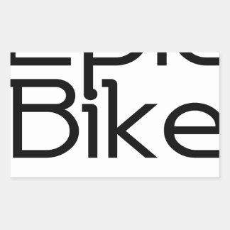 Adesivo Retangular Bebê épico da bicicleta