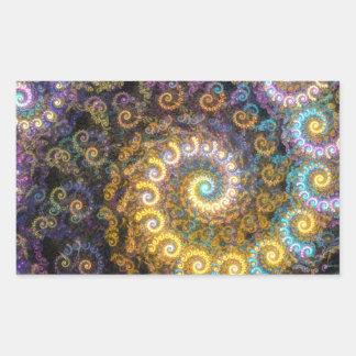 Adesivo Retangular Beleza do fractal do nautilus