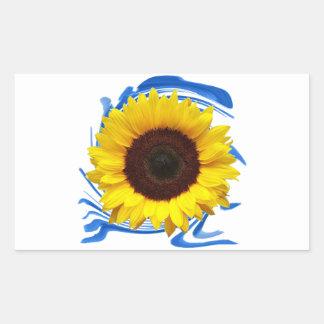 Adesivo Retangular benevolência das Sun-luzes