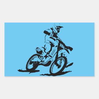 Adesivo Retangular Bicicleta e cavaleiro simples de Motorcross