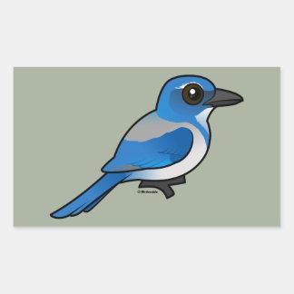 Adesivo Retangular Birdorable Califórnia Esfregar-Jay