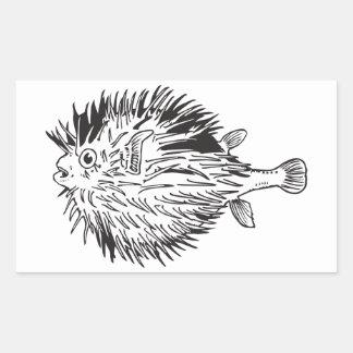 Adesivo Retangular Blowfish do Porcupinefish aka