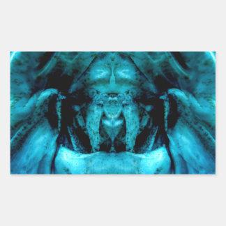 Adesivo Retangular blue dämon