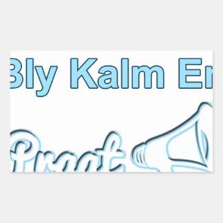 Adesivo Retangular Bly-Kalm-En-Praat-Holandês sul-africano