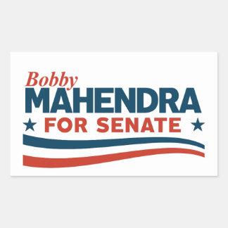Adesivo Retangular Bobby Mahendra para o Senado