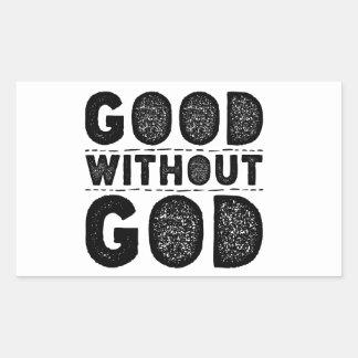 Adesivo Retangular Bom sem deus
