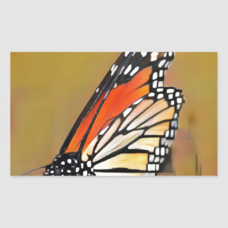 Adesivo Retangular Borboleta de monarca