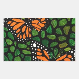 Adesivo Retangular borboletas