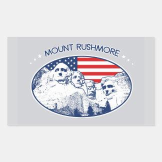 Adesivo Retangular Bordador. alpargata. Mount Rushmore, EUA América