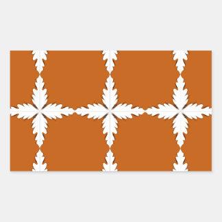 Adesivo Retangular Branco do marrom dos elementos do design
