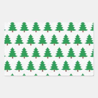 Adesivo Retangular branco novo do verde do design do Natal